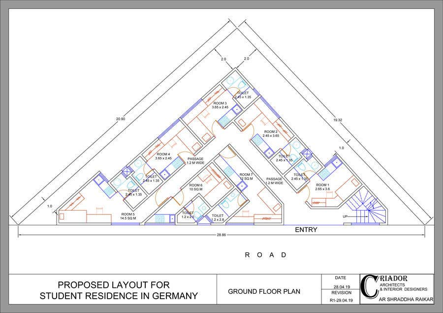 Proposition n°32 du concours Floor Plan needed for a student residence