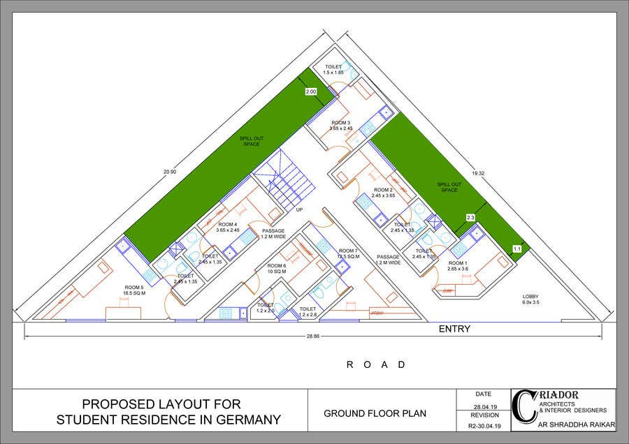 Konkurrenceindlæg #40 for Floor Plan needed for a student residence