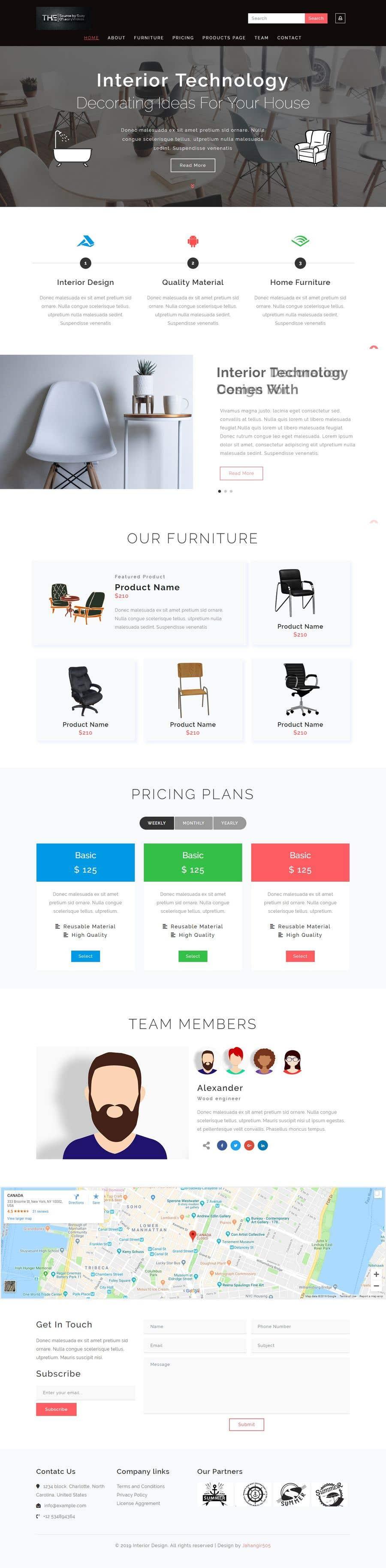Penyertaan Peraduan #1 untuk Build Me A Website Template For An Interior Designer