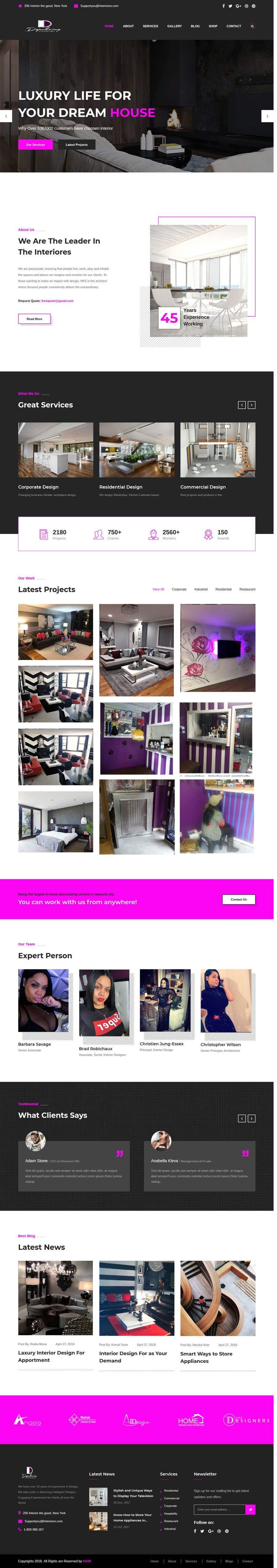 Penyertaan Peraduan #26 untuk Build Me A Website Template For An Interior Designer