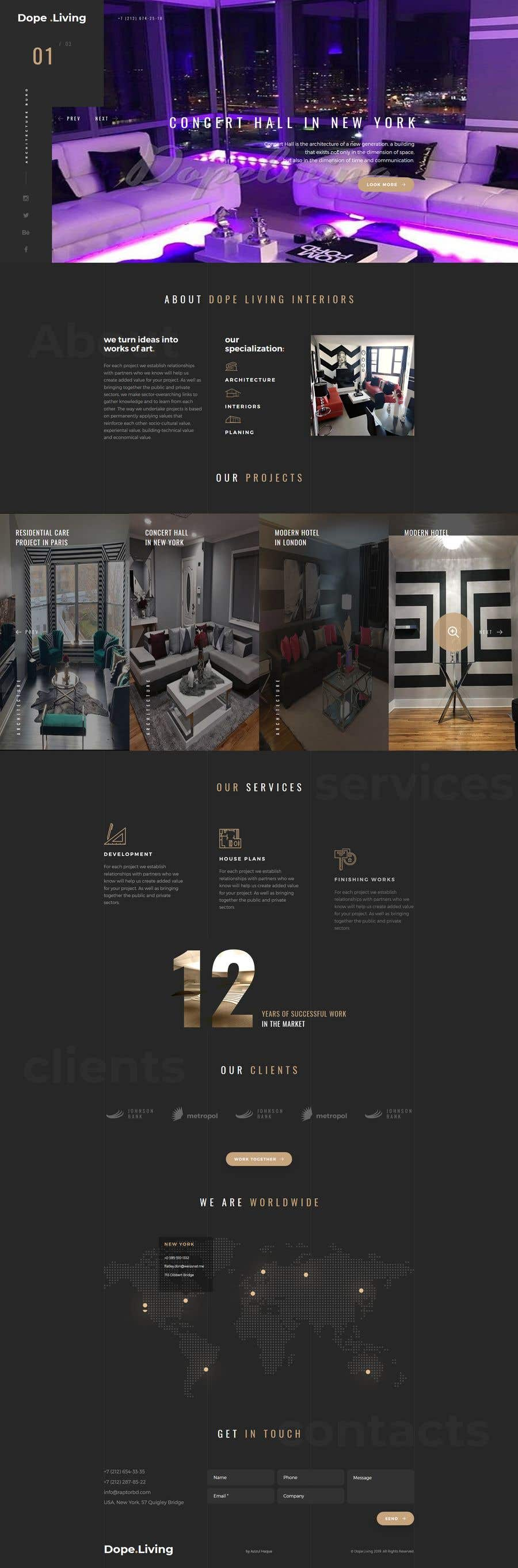 Penyertaan Peraduan #17 untuk Build Me A Website Template For An Interior Designer