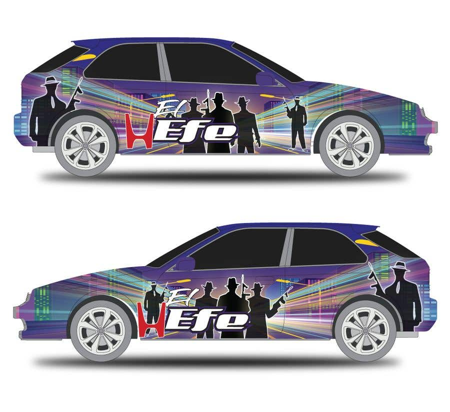 Penyertaan Peraduan #31 untuk Full Color Gangster Wrap Design for Honda race car