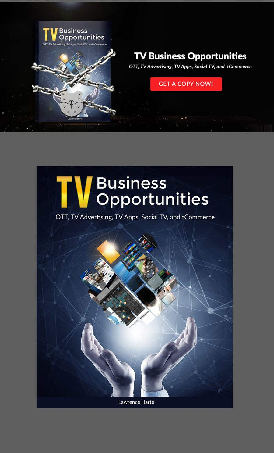 Bài tham dự cuộc thi #51 cho Create a Front Book Cover Image about New TV Business Opportunities