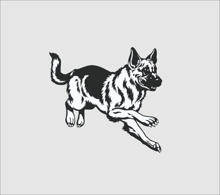 Penyertaan Peraduan #25 untuk Create 11 simple b&w illustrations of dogs and mice for a book