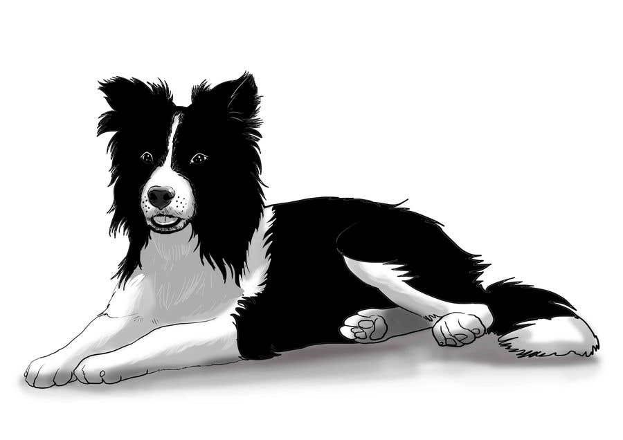 Penyertaan Peraduan #21 untuk Create 11 simple b&w illustrations of dogs and mice for a book