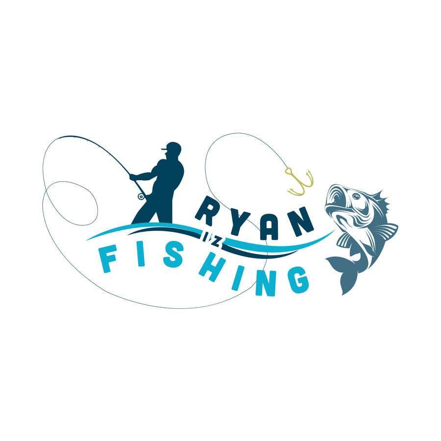 """Kilpailutyö #401 kilpailussa Create a Fishing Logo """"RYAN IZ FISHING"""""""