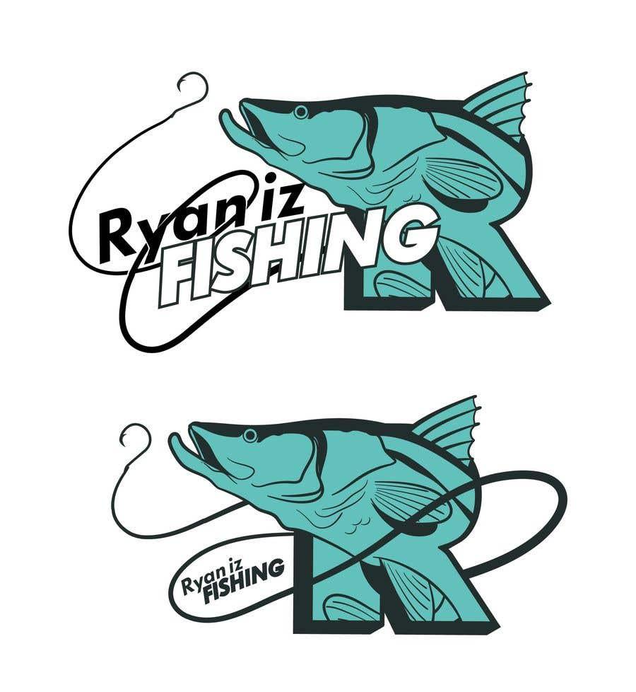 """Kilpailutyö #393 kilpailussa Create a Fishing Logo """"RYAN IZ FISHING"""""""