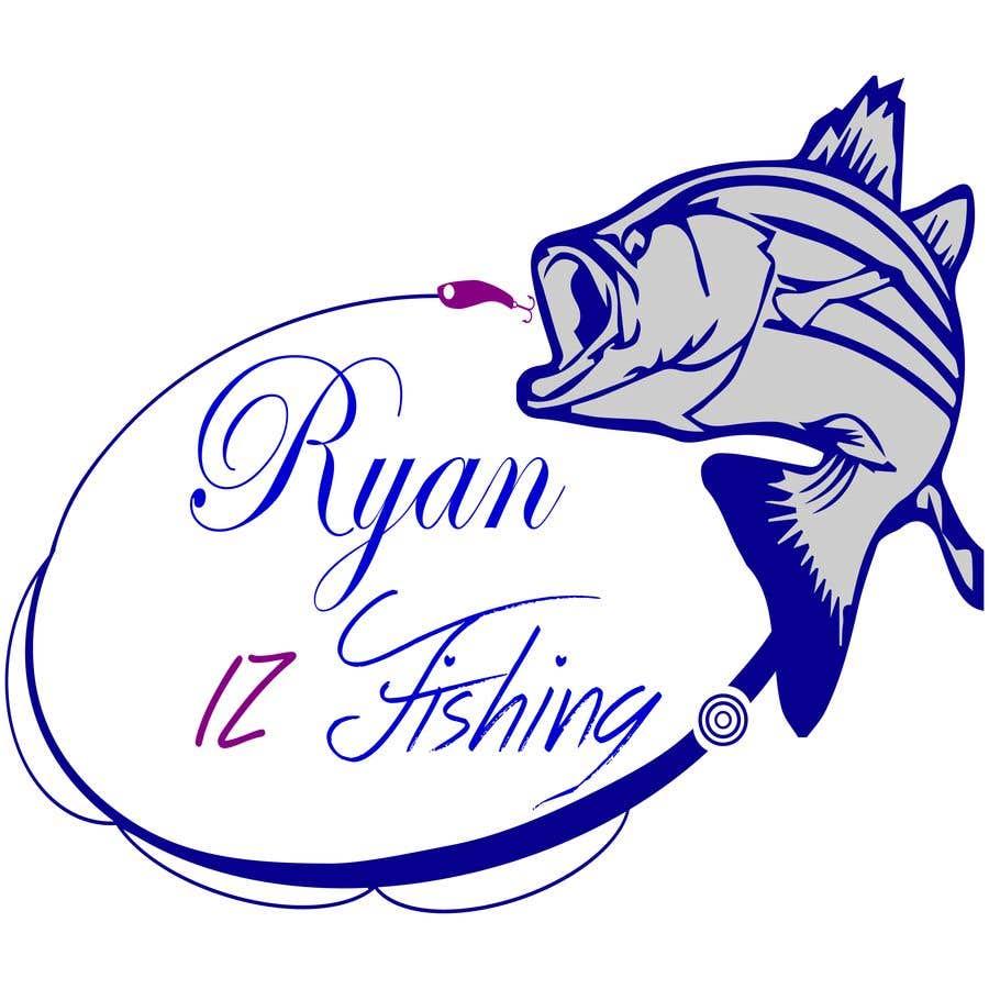 """Kilpailutyö #397 kilpailussa Create a Fishing Logo """"RYAN IZ FISHING"""""""
