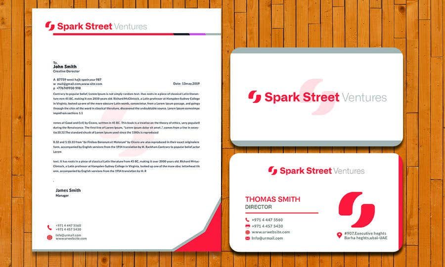 Entry #751 by ahanowar for Letterhead and Business Card