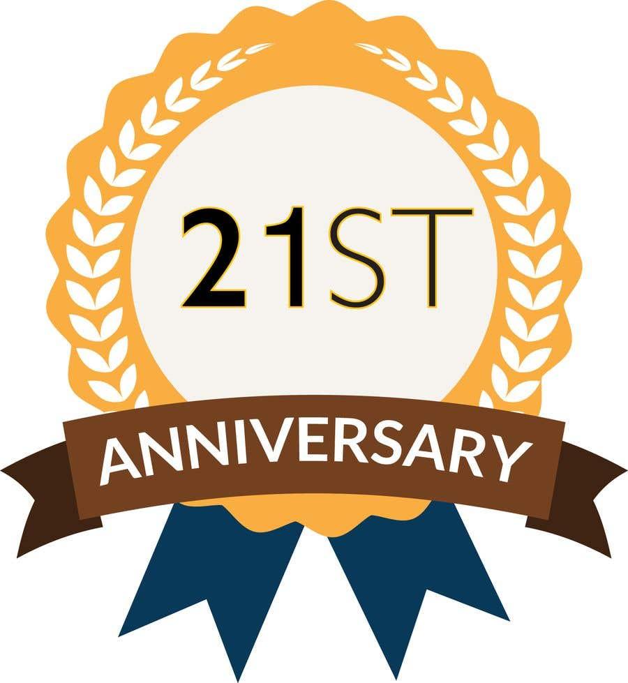 Penyertaan Peraduan #9 untuk 21st Anniversary Logo