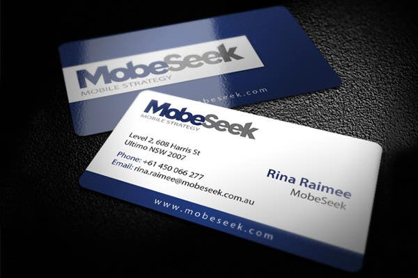 Contest Entry #2 for Business Card Design for MobeSeek