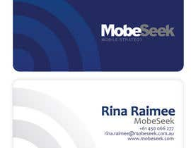 #81 para Business Card Design for MobeSeek por eliespinas