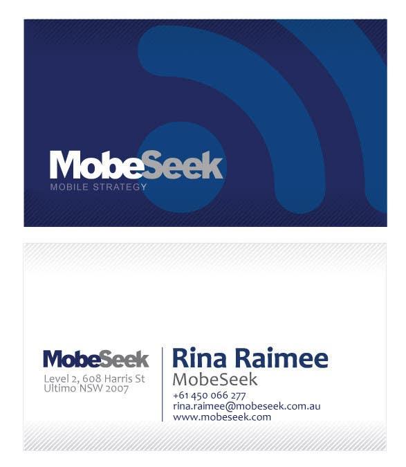 Конкурсная заявка №84 для Business Card Design for MobeSeek