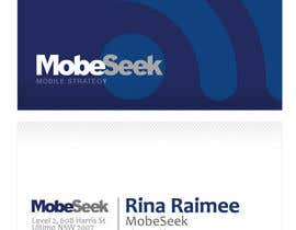 #84 for Business Card Design for MobeSeek by eliespinas