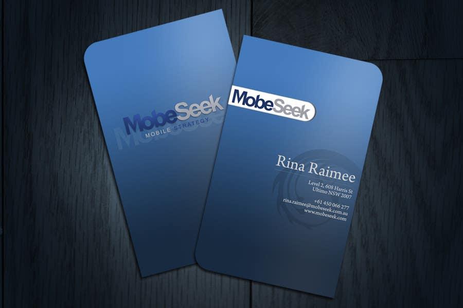 Конкурсная заявка №44 для Business Card Design for MobeSeek