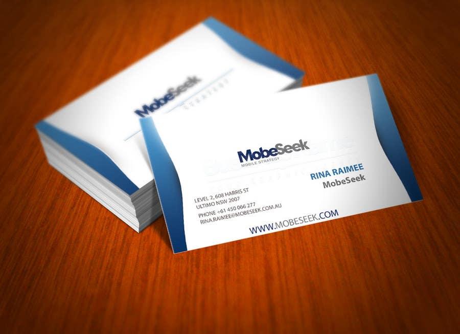 Конкурсная заявка №35 для Business Card Design for MobeSeek