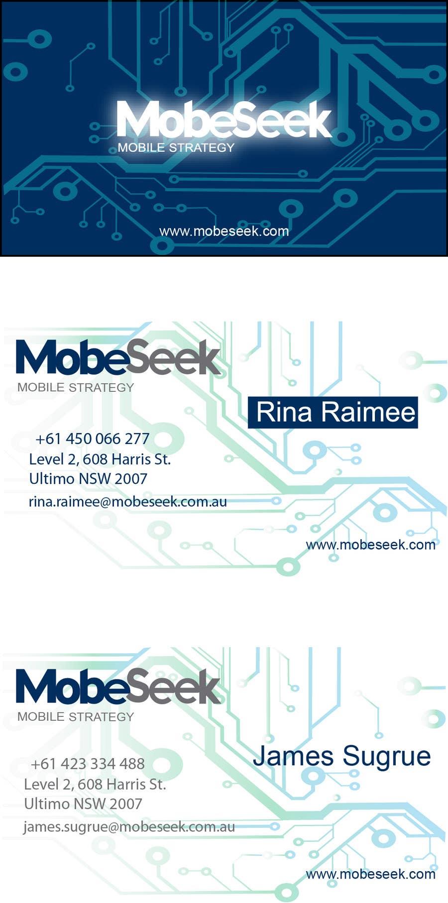 Конкурсная заявка №138 для Business Card Design for MobeSeek