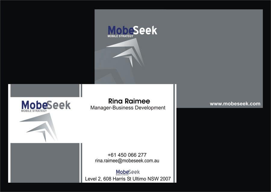 Contest Entry #104 for Business Card Design for MobeSeek