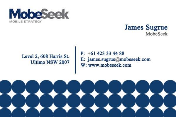 Конкурсная заявка №105 для Business Card Design for MobeSeek