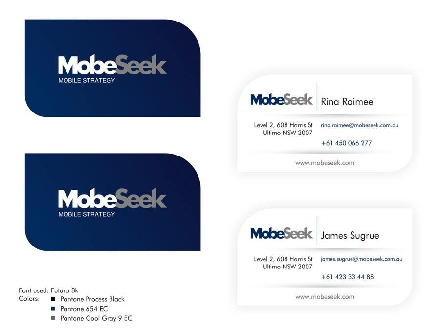 Contest Entry #86 for Business Card Design for MobeSeek