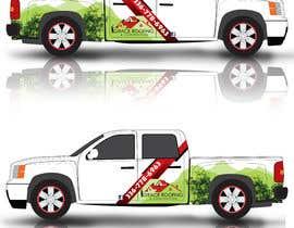 #71 para Partial truck wrap Grace Roofing & Construction por Leografic
