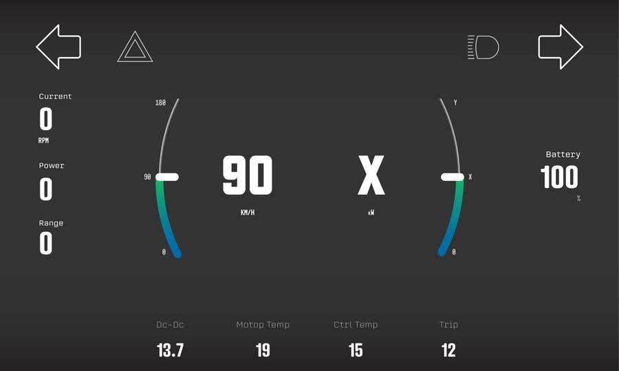 Bài tham dự cuộc thi #15 cho Graphic for motorcycle dashboard
