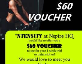 Nro 9 kilpailuun Design a voucher and a poster käyttäjältä adigrf
