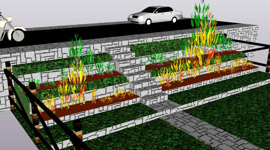 Entry 5 By Shahidullah79 For Landscaping A Slope In The Front Yard No Retaining Wall Allowed Freelancer