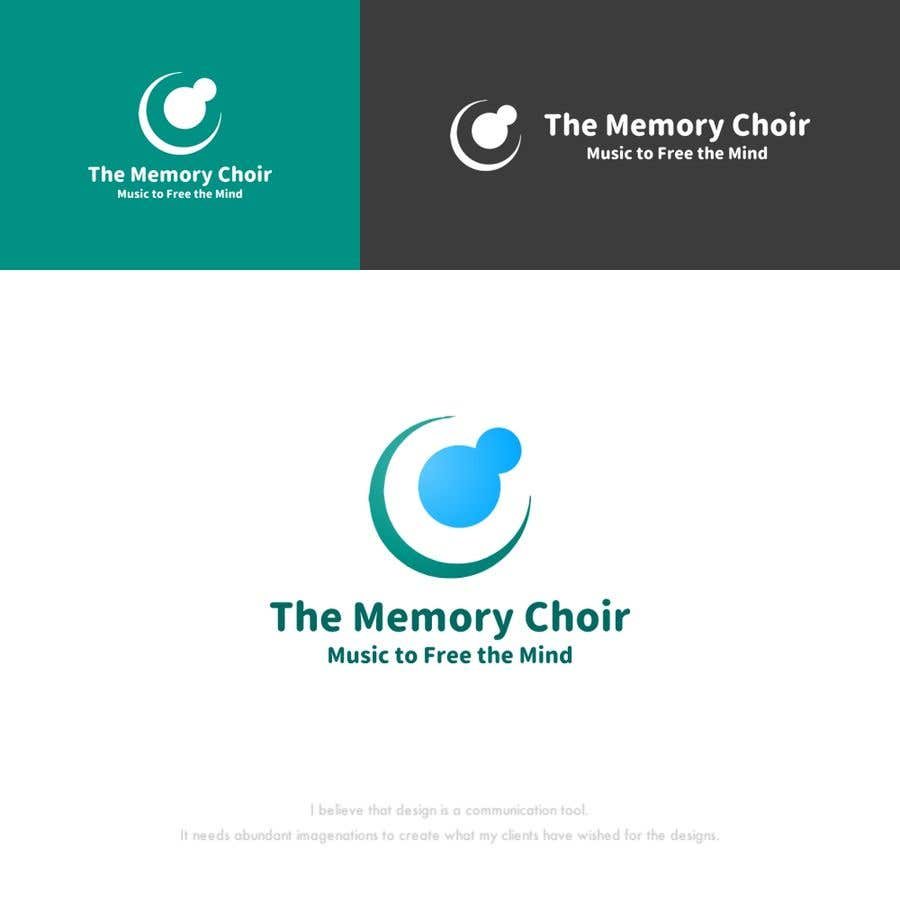Proposition n°26 du concours I need a logo for a choir called The Memory Choir with a strap line 'Music to Free the Mind'