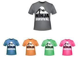 #56 для Ninja Survival t-shirt design от aliabdelhasi