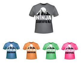 #68 для Ninja Survival t-shirt design от aliabdelhasi