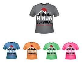 #73 для Ninja Survival t-shirt design от aliabdelhasi