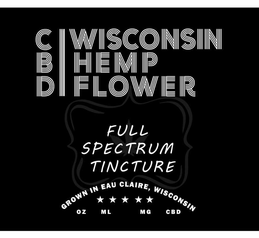 Entry #31 by MdMezbahulhaque for Label for Wisconsin Hemp Flower CBD