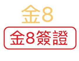 Nro 12 kilpailuun I need a logo designed.as our company is called GOLDEN8VISA & Golden8. I would like it 2 logo designs in Chinese for our Asian market.. The Golden in Chinese must be red or black käyttäjältä azharul128