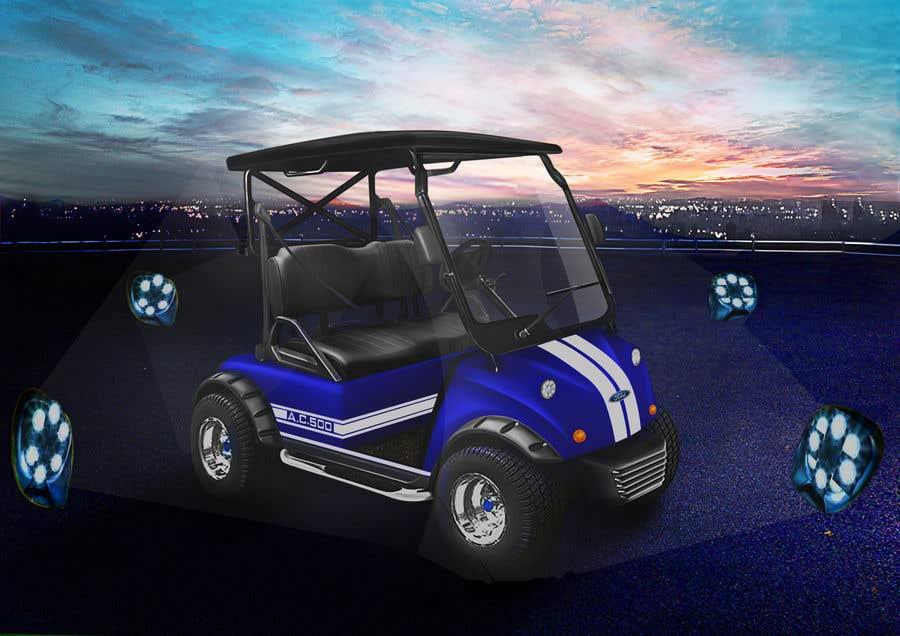 Inscrição nº 10 do Concurso para Photoshop attractive LED headlights onto golf cart