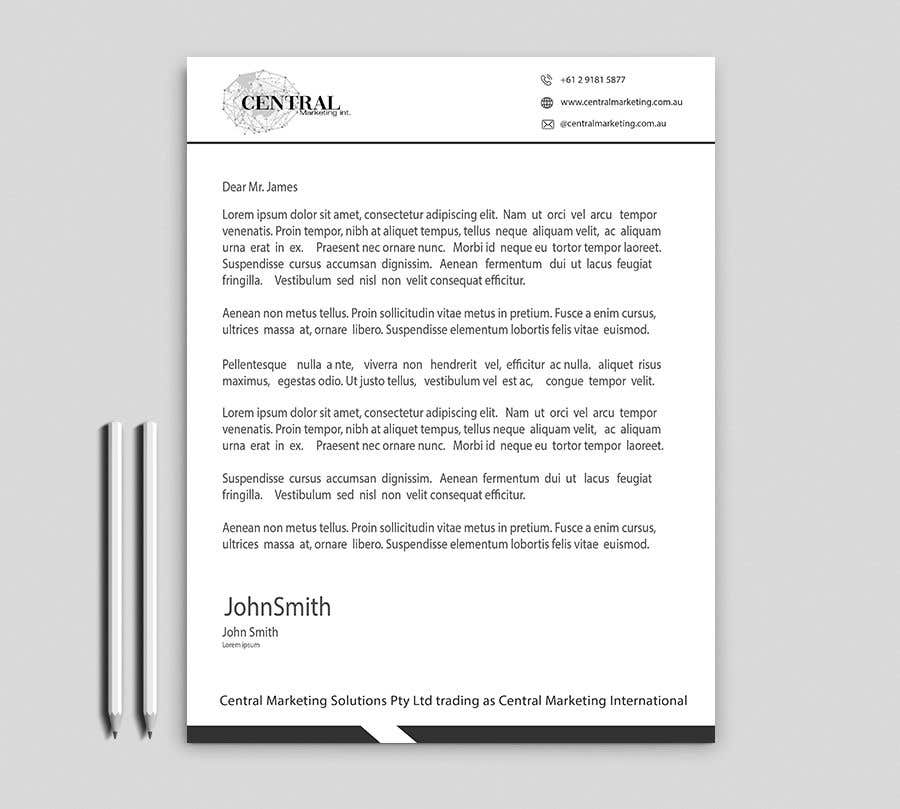 Penyertaan Peraduan #34 untuk Create a Letterhead