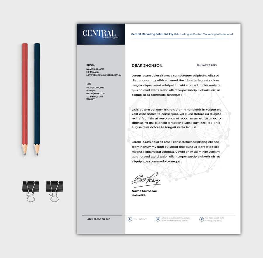 Proposition n°79 du concours Create a Letterhead