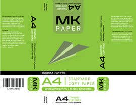 #7 for A4 paper ream and box design af iDENTDZINES