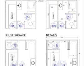 #36 for Design a bathroom Layout/ rendering af tanjiraumee