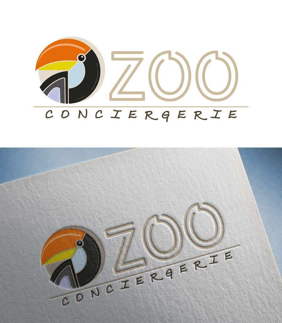 """Konkurrenceindlæg #22 for logo for a project. It is a Pet/Zoo Store called """"Zoo Conciergerie"""""""