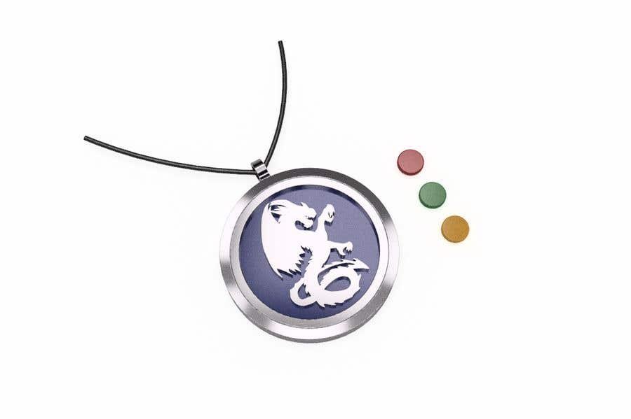 Penyertaan Peraduan #15 untuk Stainless Steel Jewelry Designs - Dragon Oil Diffuser Locket