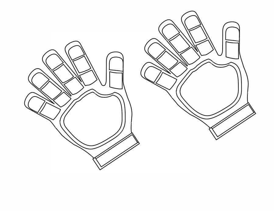 Kilpailutyö #14 kilpailussa I need the photos of the black goalkeeper gloves turned into a detailed vector without the 'T' and 'Titan' logos.