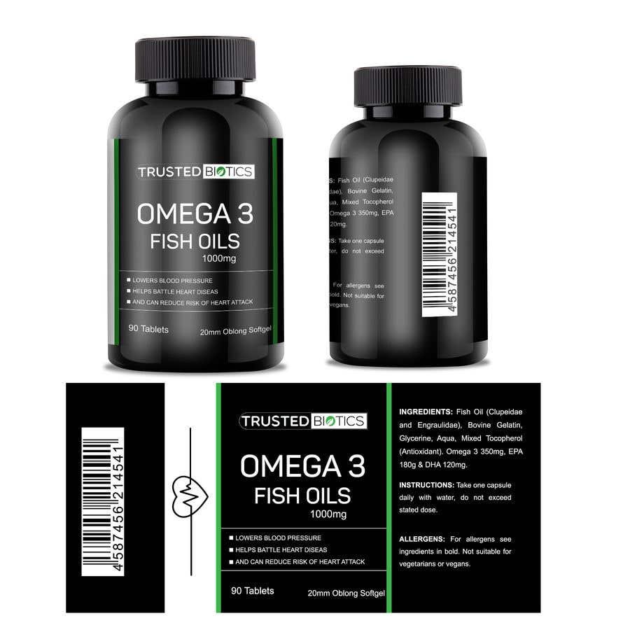 Kilpailutyö #11 kilpailussa Design label for vitamins bottle