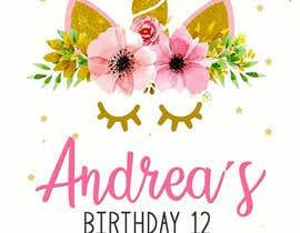 Nro 15 kilpailuun ANDREA´S #12 BIRTHDAY käyttäjältä marianayepez