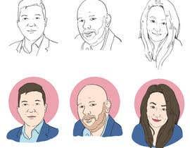 #24 para Sketches of head shots for website por abdillahfnoor
