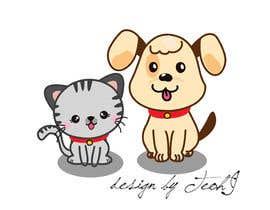 Nro 15 kilpailuun cat and dog cartoon logo käyttäjältä crazyteoh