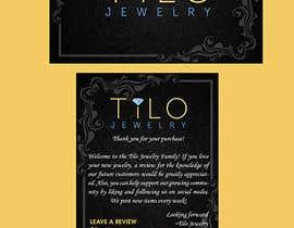 #7 untuk Tilo Jewelry 4x6 flyer oleh maidang34