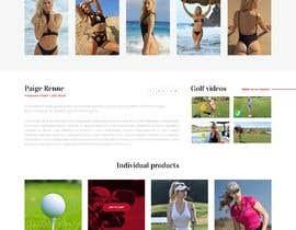 Nro 40 kilpailuun Design Home Screen for Mobile Responsive Website for an Instagram model käyttäjältä hejven