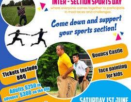 Nro 16 kilpailuun Make a Sports Day Poster - A4 Size käyttäjältä maidang34