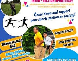 Nro 26 kilpailuun Make a Sports Day Poster - A4 Size käyttäjältä maidang34